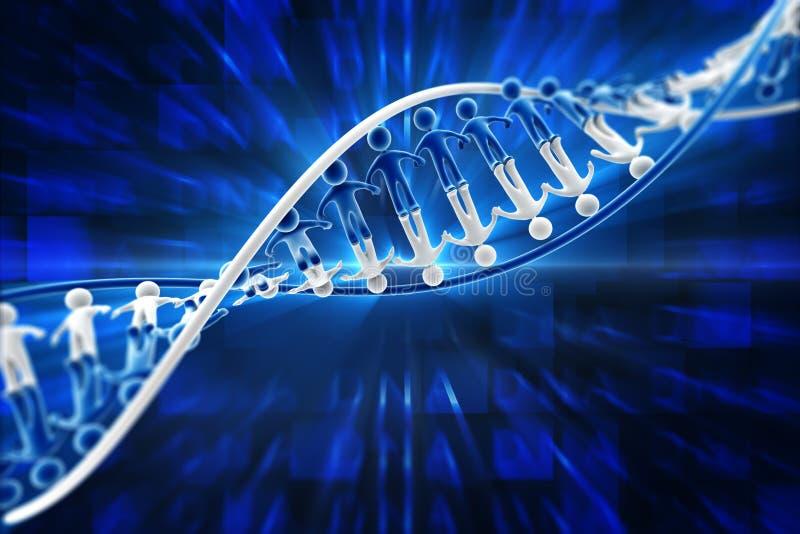 DNA umano illustrazione di stock