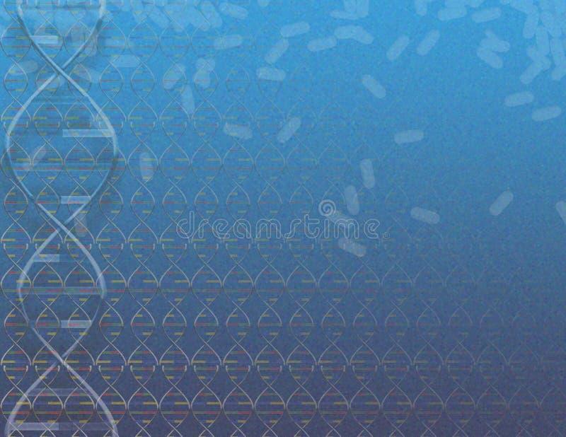 DNA und Pillen stock abbildung