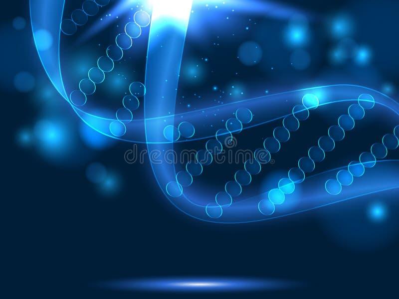 DNA wektorowy medyczny tło ilustracji