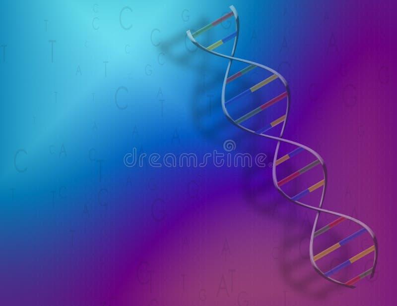 DNA y código binario stock de ilustración