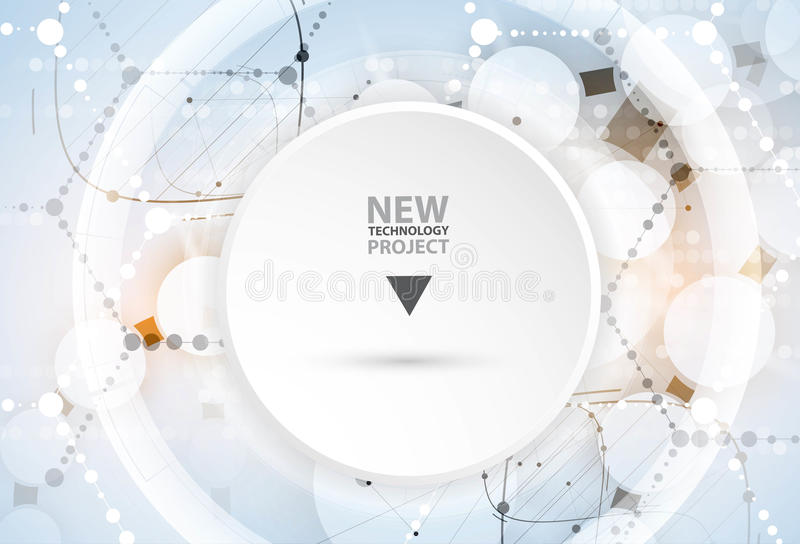 DNA y fondo médico y de la tecnología molécula futurista stock de ilustración