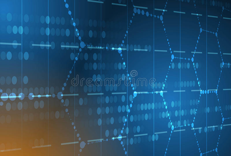 DNA y fondo médico y de la tecnología molécula futurista s stock de ilustración