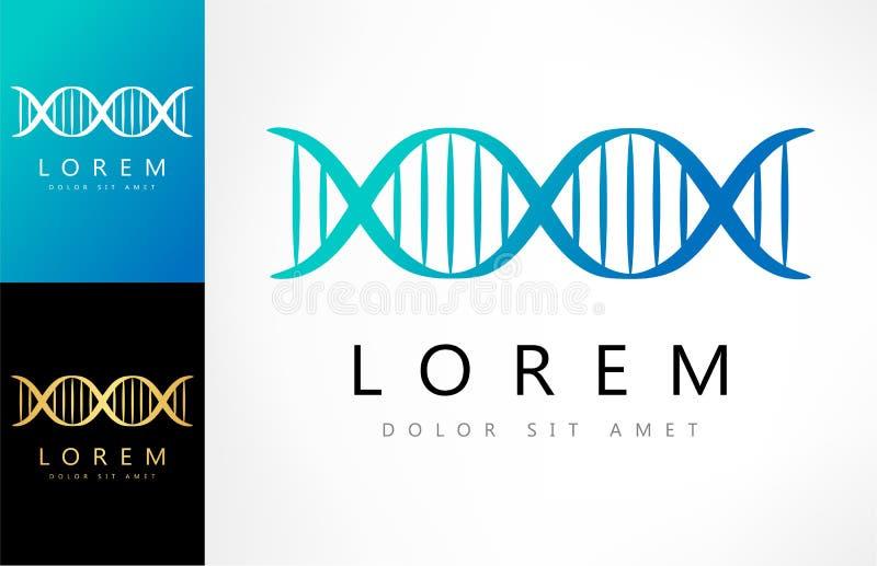 DNAlogovektor stock illustrationer
