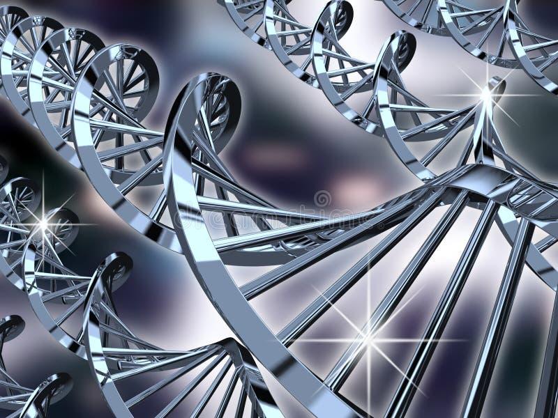 DNAspiraler vektor illustrationer
