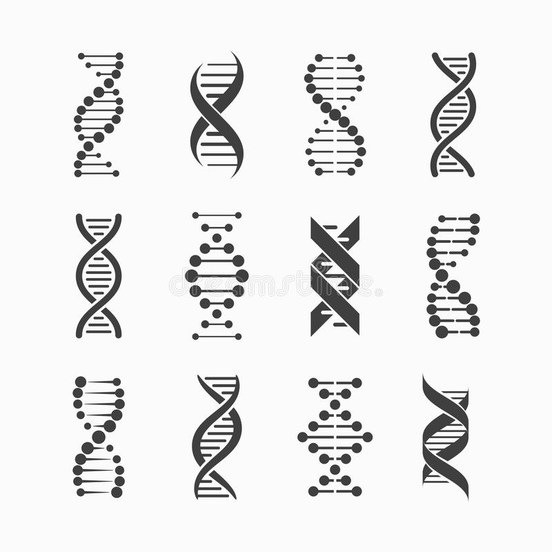 DNAsymboler royaltyfri illustrationer