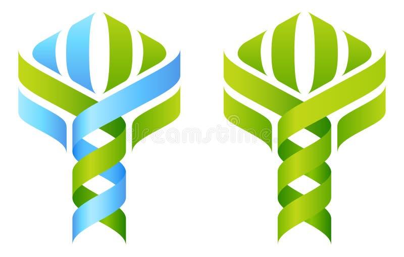 DNAträd stock illustrationer