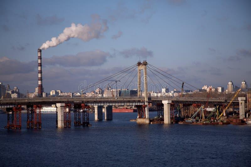 Dnepr river. Ukraine in the morning stock photos