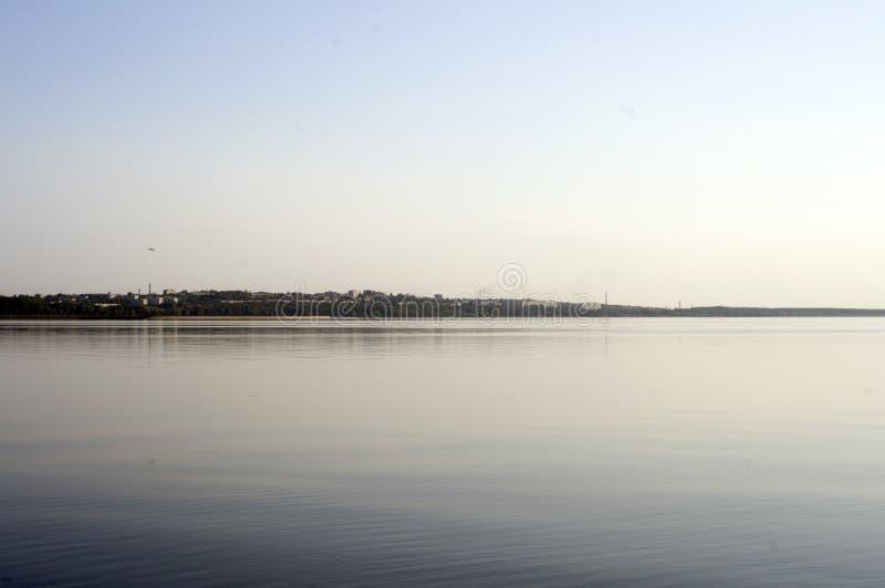 Dnepr river. Ukrainian town Svetlovodsk on the bank of the Dnepr river royalty free stock photo