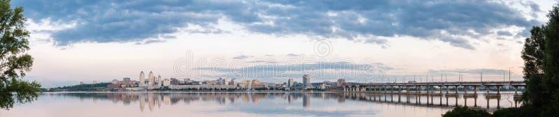 Dnepropetrovsk Dnipropetrovsk, Dnepr, Dnipro miasto widok obraz stock