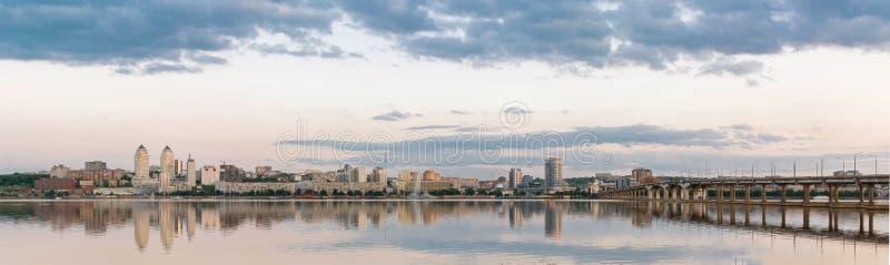 Dnepropetrovsk Dnipropetrovsk, Dnepr, Dnipro miasto widok zdjęcia royalty free