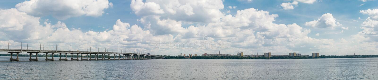 Dnepropetrovsk Dnipropetrovsk, Dnepr, Dnipro view of the city royalty free stock image
