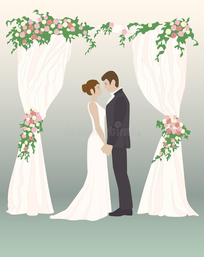 Dni ślubu kochający serca obrazy royalty free