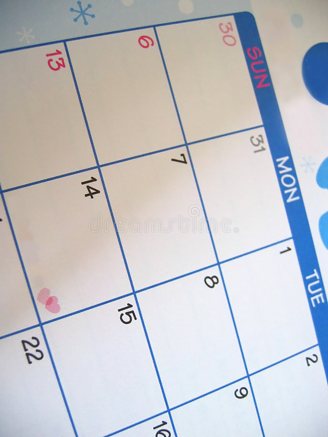 dni kalendarzowe valentines fotografia royalty free