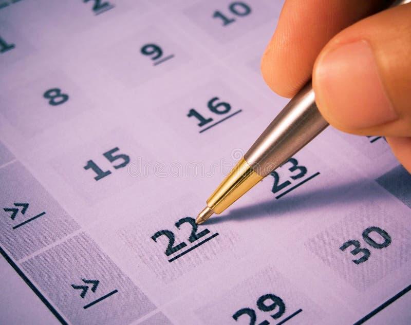 dni kalendarzowych oznakowania obrazy royalty free