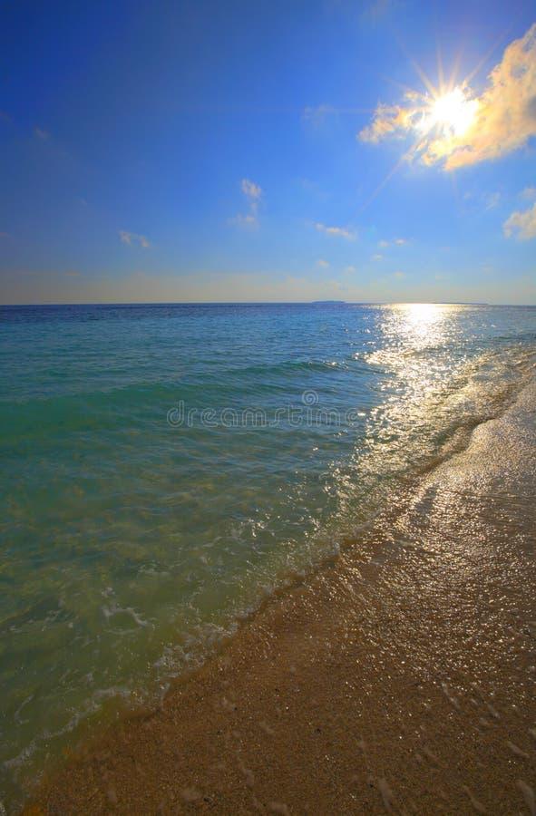 dni słonecznej oceanu fotografia stock