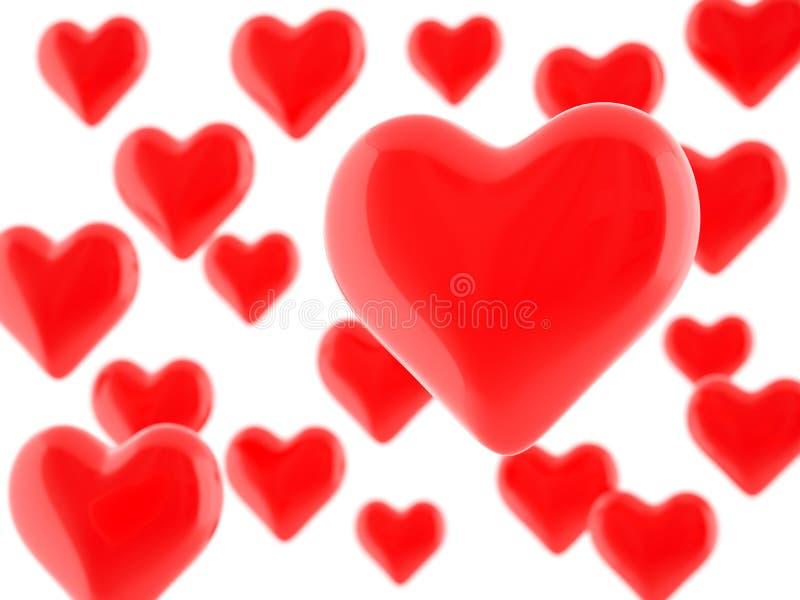 dni serc miłość jest walentynka ilustracyjny royalty ilustracja