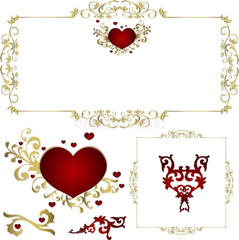 dni valentines royalty ilustracja