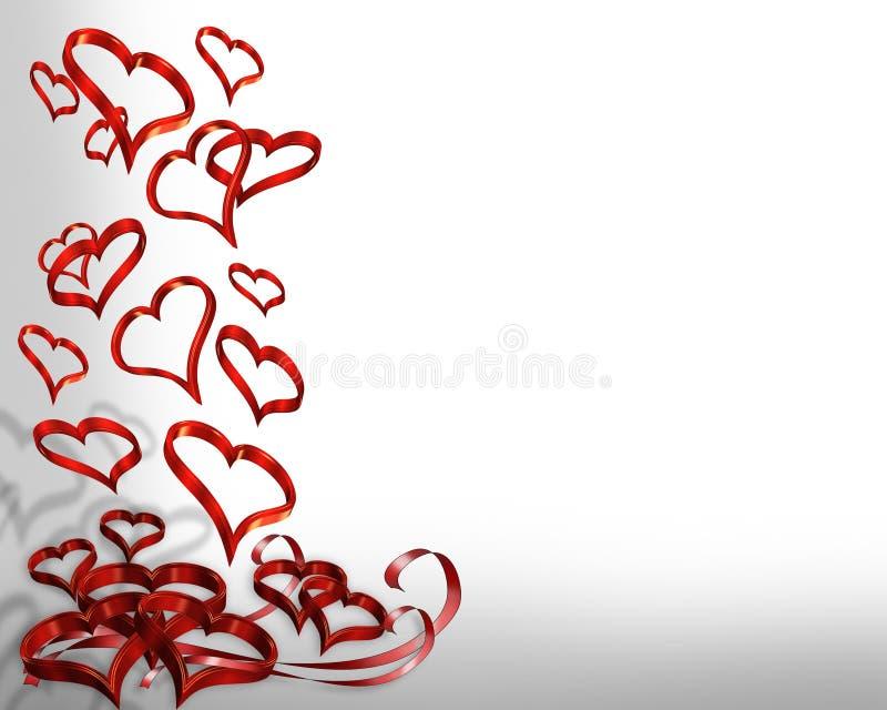 dnia 3 d granice objętych valentines serc ilustracja wektor