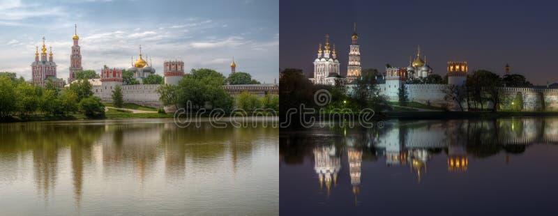Dnia i nocy serie: Novodevichy klasztor fotografia royalty free