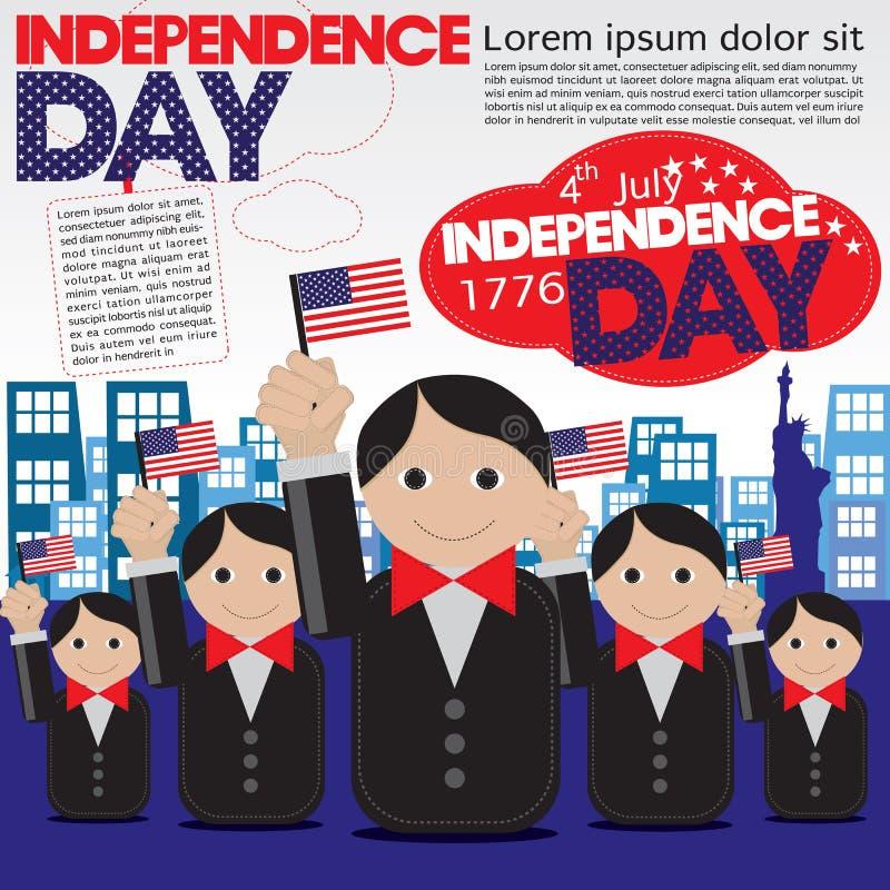 Dnia Niepodległości świętowanie. ilustracji
