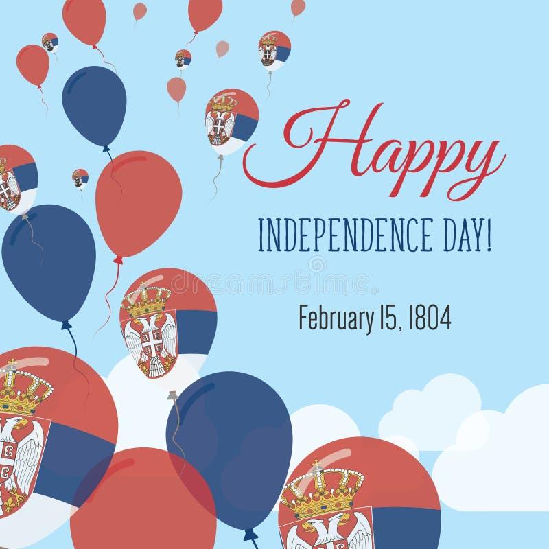 Dnia Niepodległości mieszkania kartka z pozdrowieniami royalty ilustracja
