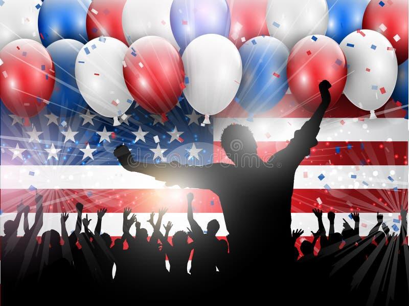 Dnia Niepodległości 4th Lipa przyjęcia tło 0406 ilustracja wektor