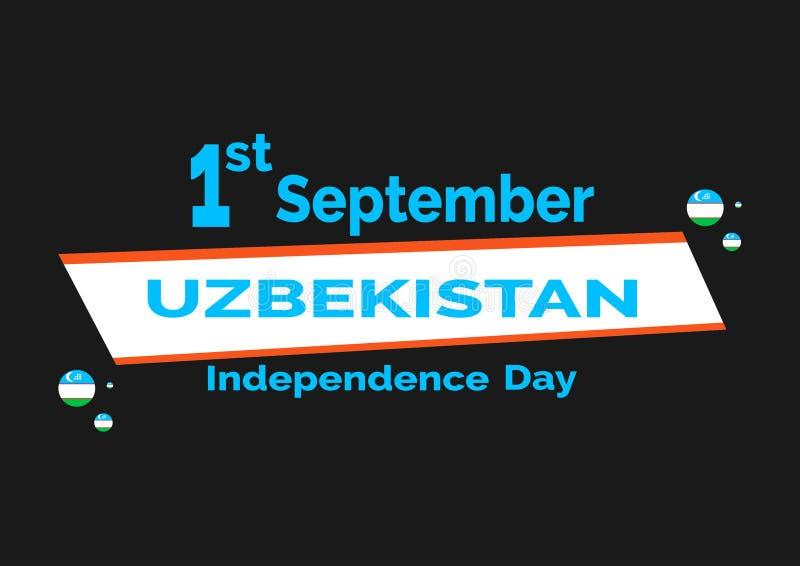 Dnia Niepodległości Uzbekistan flaga tło 10 eps ilustracyjny osłony wektor ilustracji
