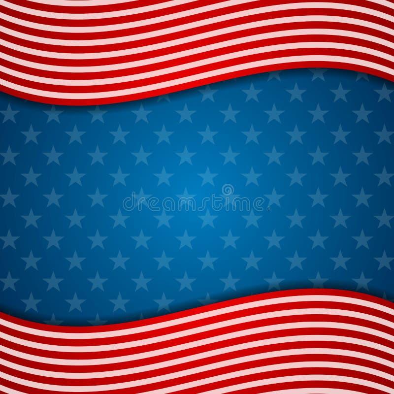 Dnia Pamięci usa abstrakcjonistyczna flaga barwi tło ilustracji