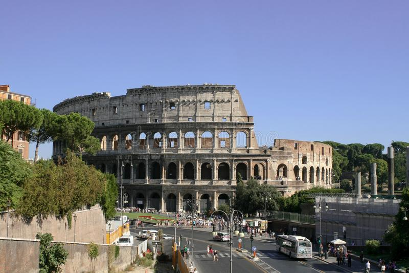 Dnia widok Colosseum zdjęcia stock