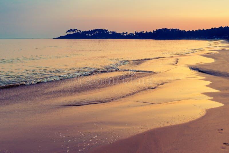 Dnieje w zwrotnikach, strzał na plaży obrazy stock