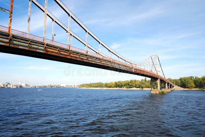 dnieper моста над рекой стоковое фото rf