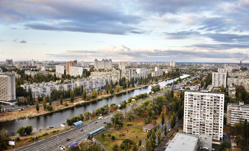 Download Dnieper embankment stock image. Image of block, city - 21660595