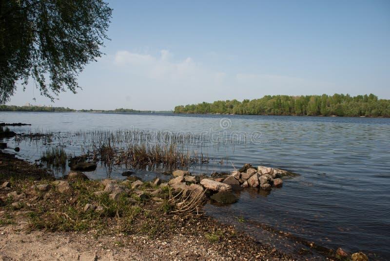 Dnieper-Fluss, Kiew, Ukraine lizenzfreie stockfotografie