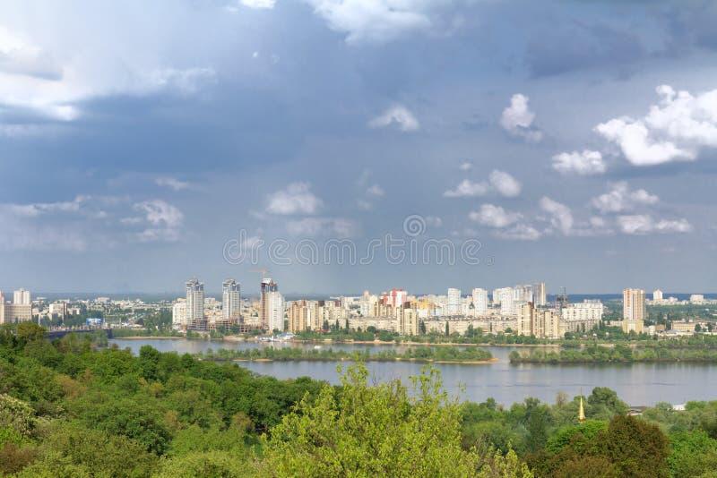 dnieper kyiv河乌克兰视图 库存图片