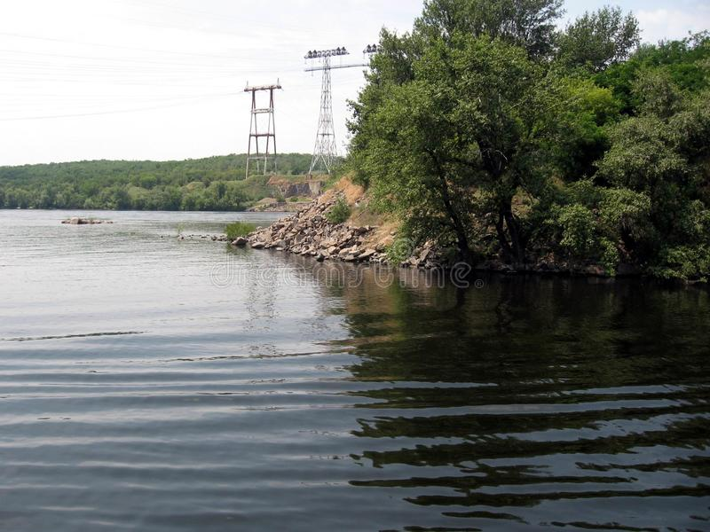 Dnepr River. Ukraine stock photos