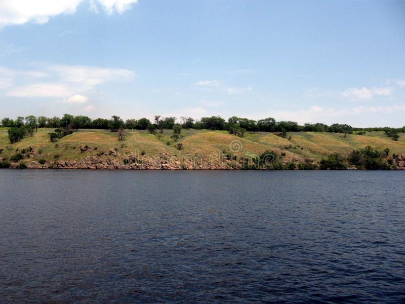 Dnepr River. Ukraine stock photography