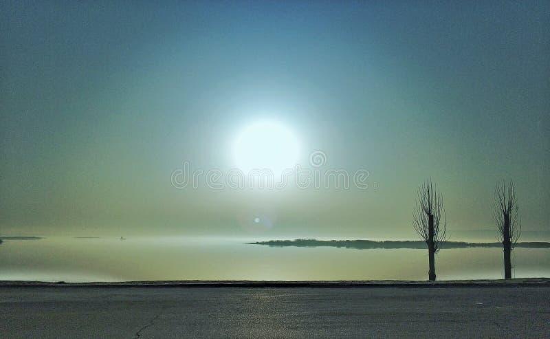 Dnipro de Surise imágenes de archivo libres de regalías