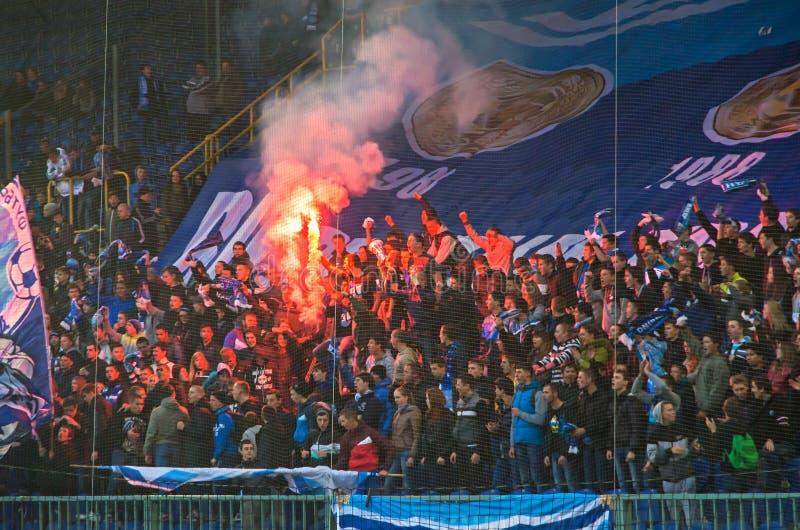 Football hooligans royalty free stock image