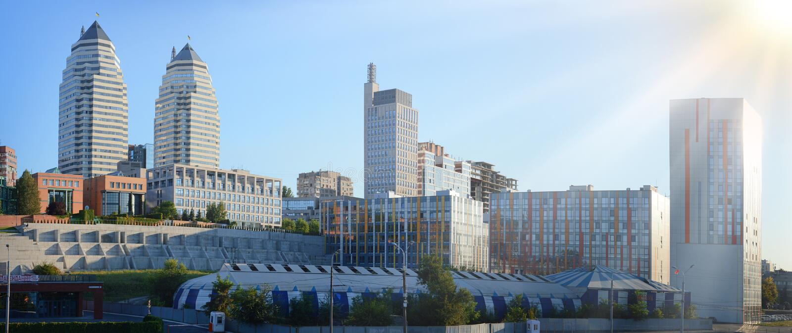 Dnipropetrovsk City landscape royalty free stock image