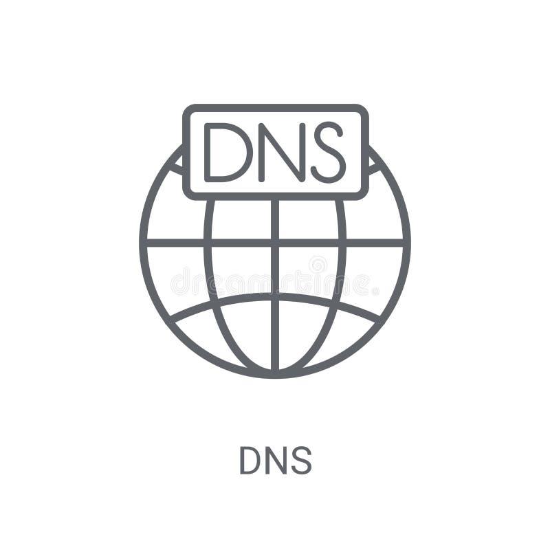 DNS象 在白色背景的时髦Dns商标概念从网h 库存例证
