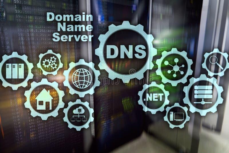 DNS Domain Name System Communication de Web de r?seau Internet et concept de technologie num?rique photos stock