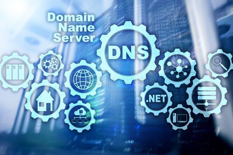 DNS Domeinnaamsysteem De Mededeling van het netwerkweb Internet en digitaal technologieconcept stock fotografie