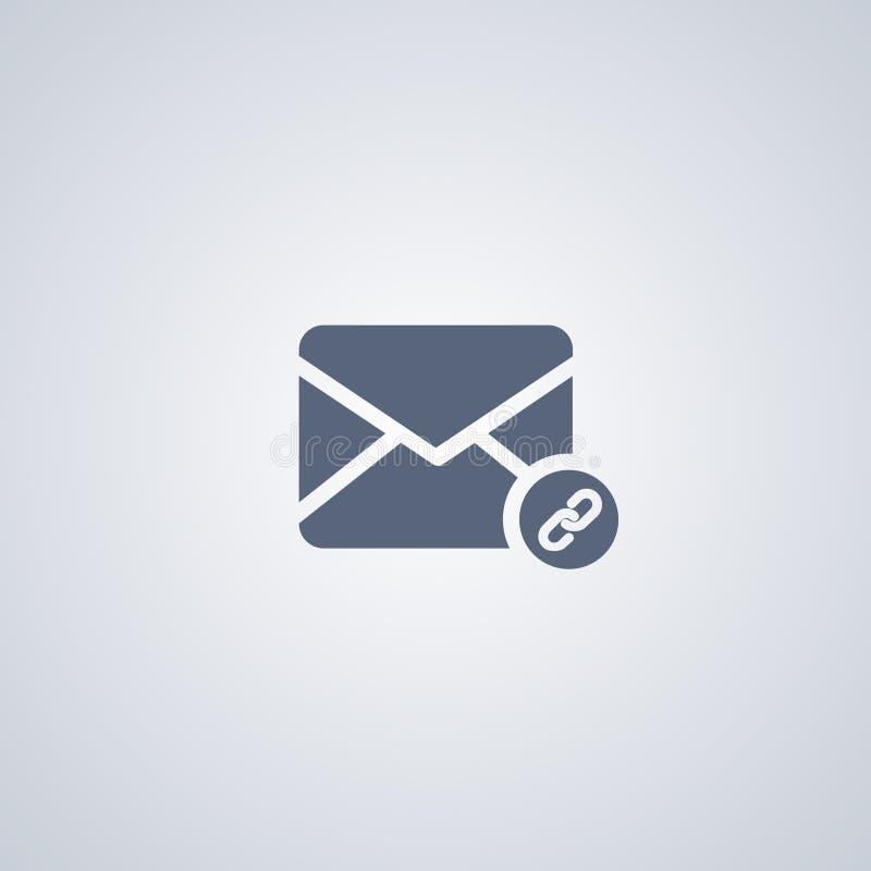 Dołącza, Wyznacza, emaila, wektorowa najlepszy płaska ikona ilustracja wektor