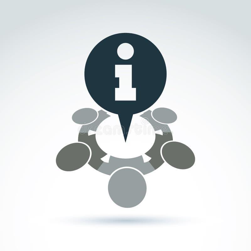 """Do †conceptual do ícone do centro de atendimento serviço consulta da """", informatio ilustração do vetor"""