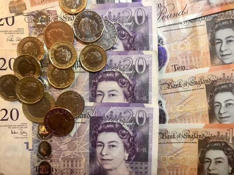 Do ï do ¼ libras britânicas do fundo de Œcoins fotos de stock