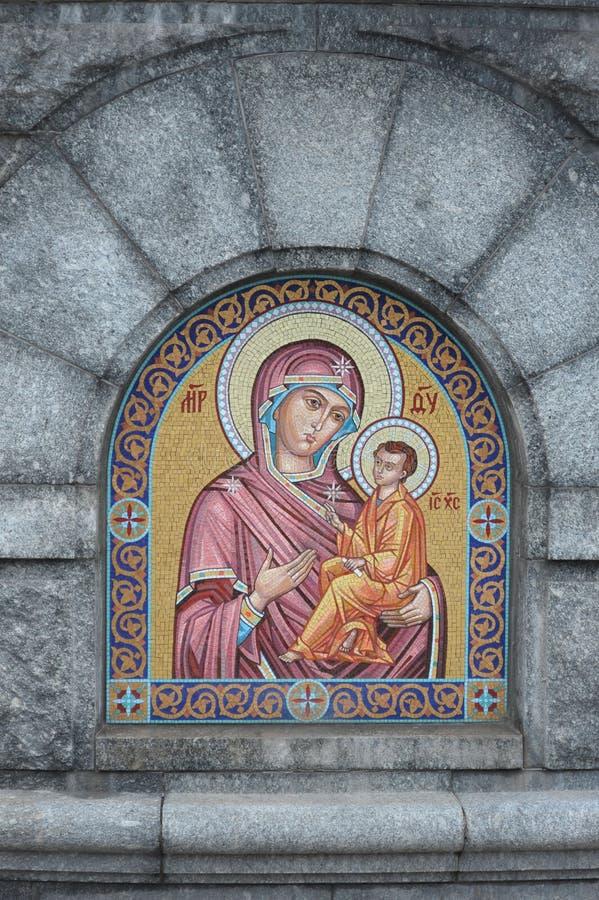 ` Do ícone de Moscou, Rússia nossa senhora do ` de Tikhvin imagem de stock royalty free