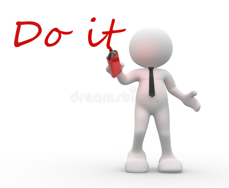 Download Do it stock illustration. Image of help, hold, attitude - 26251222