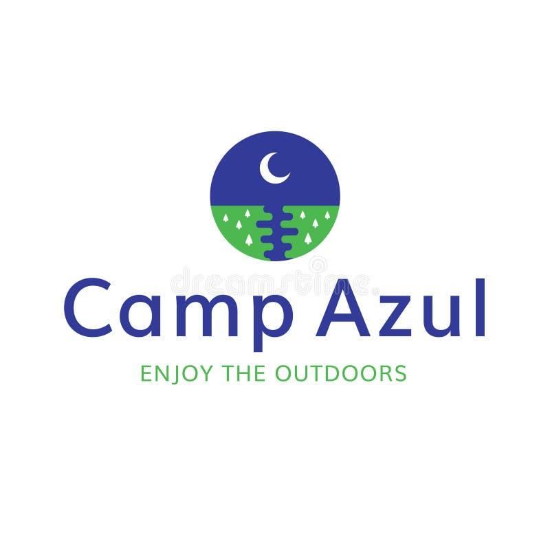 Do acampamento da lua logotipo da recreação fora fotografia de stock