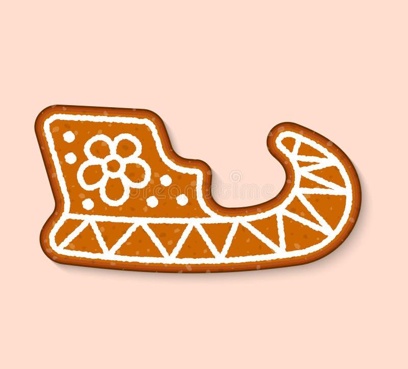 Do alimento cozido doce das sobremesas do vetor do bolo dos doces da cookie do Natal bolos tradicionais para o jantar do Xmas e a ilustração stock
