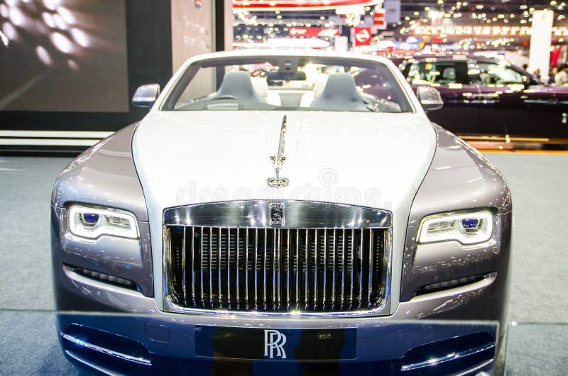 ` Do alvorecer do ` de Rolls Royce na cor de prata no motorshow 2018 de Banguecoque fotos de stock